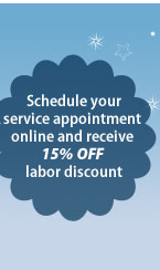 10% off labor on wolf repair